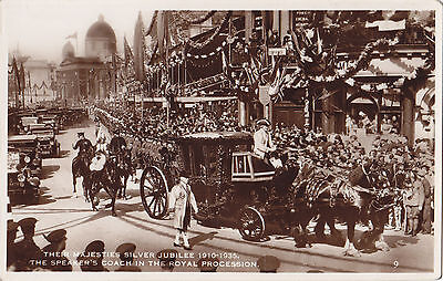 Speaker's Coach KING GEORGE V Silver Jubilee Procession 1935 Excel Series RPPC