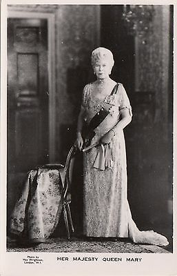 Her Majesty QUEEN MARY Photo Hay Wrightson Tuck & Sons Real Photo Postcard