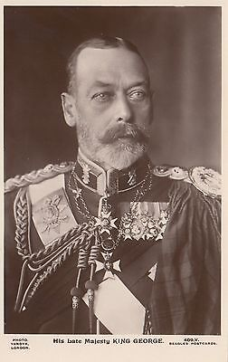 His Late Majesty KING GEORGE V 1936 Photo Vandyk J. Beagles Real Photo PC 409.V
