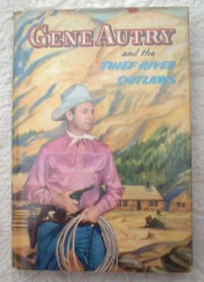 RARE 1944 WHITMAN COWBOY BOOK GENE AUTRY THIEF RIVER OUTLAWS 1st Edition HC DJ