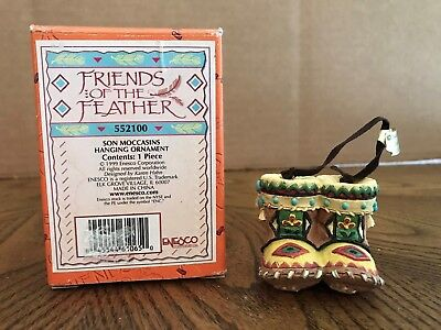"""Enesco Friends Of The Feather """"Son Moccasins"""" Hanging Ornament  552100"""