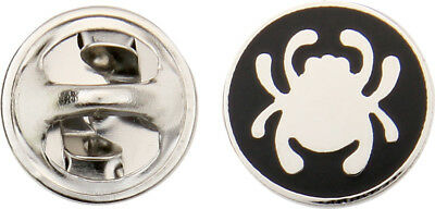 "Spyderco BUGPIN Lapel Bug Pin Measures 1/2"" In Diameter Silver & Black"