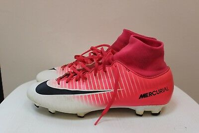 Nike Mercurial Pink and White football boots Mens Size UK 7.5 (EU 42)