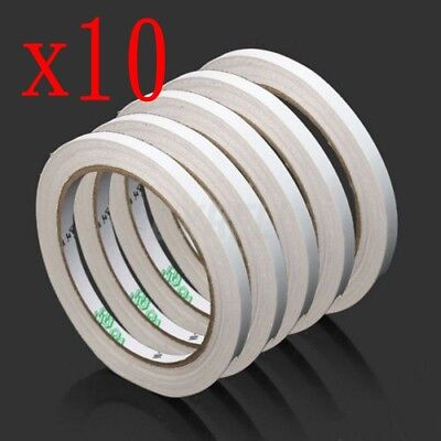 10 Rolls Double Sided Super Strong Adhesive Tape for Craft Brand 6mm NEW