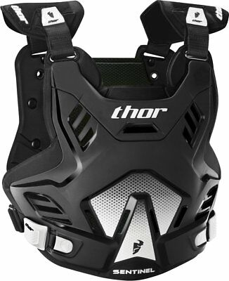 Thor Youth Boys Sentinel GP Chest/Back Roost Guard Protector Black White