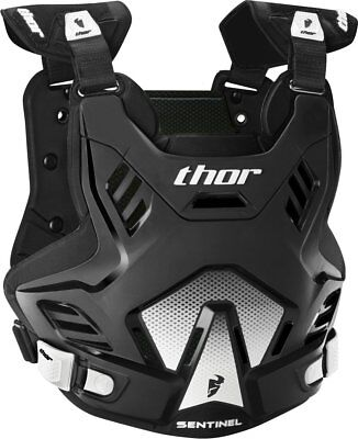 Thor Mens Sentinel GP Chest/Back Roost Guard Protector Medium/Large Black White