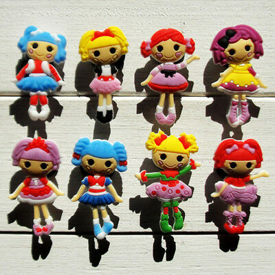 8pcs/lot Lalaloopsy PVC Shoe Charms Accessories fit in Shoes & Bracelets Gifts