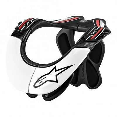 Alpinestars Mens BNS Pro Neck Support Protector Large/X-Large White Red Black