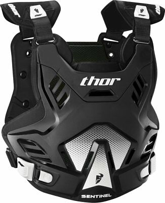 Thor Mens Sentinel GP Chest/Back Roost Guard Protector XL/XXL Black  White