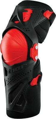 Thor Youth Boys Force XP MX Motocross Knee Guards Shin Protectors Pair Red