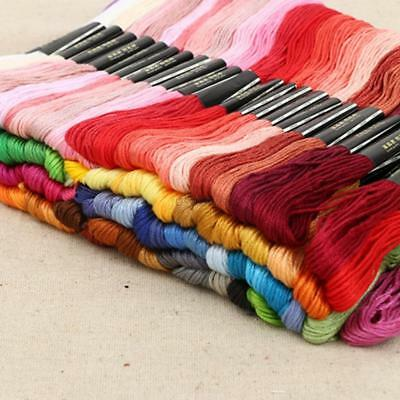 150 Multi Colors Cross Stitch Cotton Sewing Skeins Embroidery Thread Floss Kit