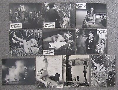 "FRAULEINS IN UNIFORM. ORIG 10 UK LOBBY CARDS. F.O.H. STILLS. B/W R/P10""x 8"".1973"