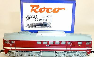 BR 120 Diesel locomotive Taiga drum DR DIGITAL SOUND Roco 36231 TT 1:120 w HL3 µ