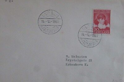 1961 Greenland 30  Ore Used On Cover