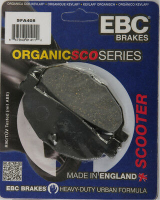 EBC SFA Premium Organic Scooter Rear Brake Pads Single Set For Yamaha SFA408