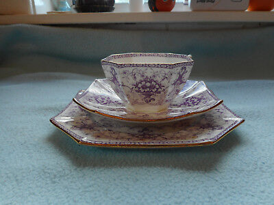 Wileman Early Shelley Queen Anne Shape Trio  Pattern 10018