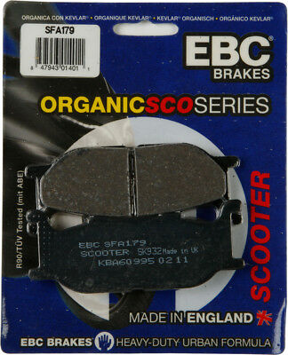 EBC SFA Premium Organic Scooter Front Brake Pads Single Set For Yamaha SFA179