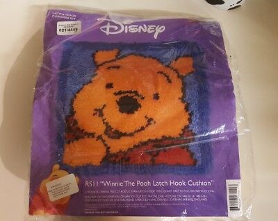 Winnie the Pooh Latch Hook Cushion Kit