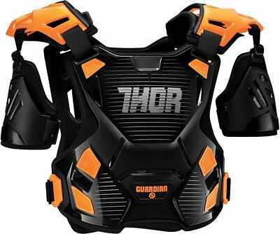 Thor Mens Guardian Chest/Back Roost Guard Protector XL/XXL Black Orange