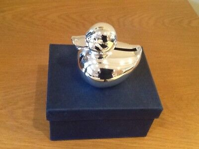 money box,silver plated duck,new by shudehill,rrp£ 17.99