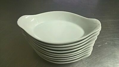9X Olympia Whiteware Oval Eared Dishes 229X 127mm Porcelain Serving Plates
