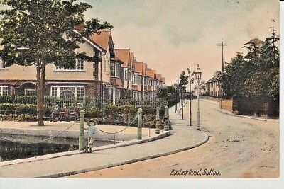 Early SUTTON Bushey Road - houses, people, S. & W. Series