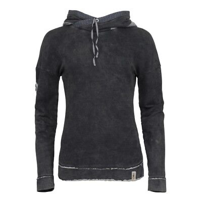 Chillaz Cliff Hoody Women black washed Damen Half-Zip Pullover dunkelblau Pulli