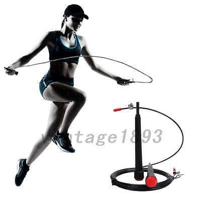 Skipping Rope Fitness Exercise Adjustable Steel Cable Speed Jump Rope Execise