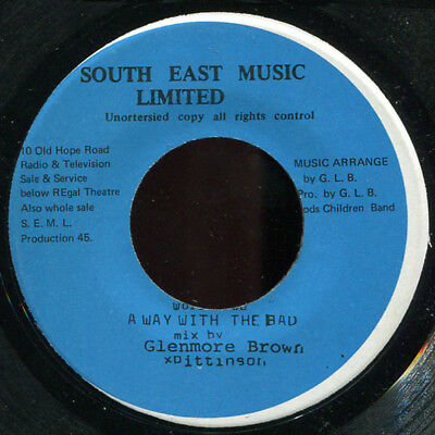 "Glenmore Brown - Away With The Bad ( Roots Pinnacle) JA South East 7"" Listen!"