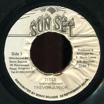 "Trevor Junior - Title JA Sunset 7"" Listen!"