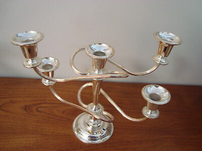 Five Arm Silver Plated Candelabra