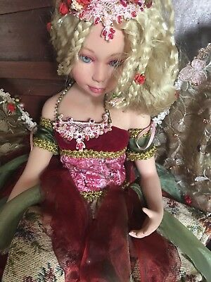 "Vintage Large Fairy Pixie Bisque Porcelain 24"" Doll Figure"