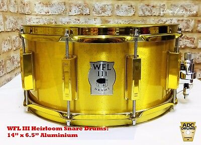 "WFL III 1909 Series: Aluminium ""All Gold"" Prototype Snare Drum (Bill Ludwig III)"