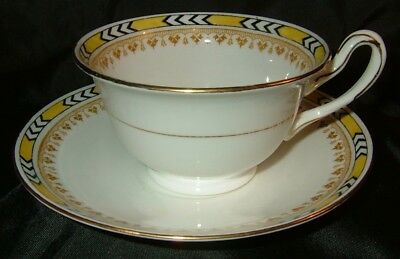 SHELLEY: 'MILTON' shape tea-cup & saucer. NR!