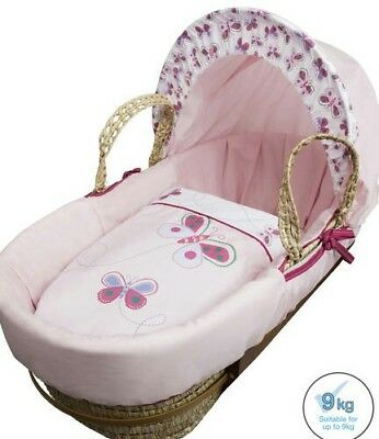 Baby Girls Moses Basket And Stand 163 4 99 Picclick Uk