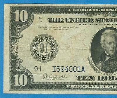 $10. 1914 Fr.938 Minneapolis Federal Reserve Note