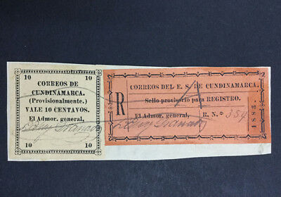 Momen: Colombia #13,f1 Cundinamarca Used $31++ Lot #6511