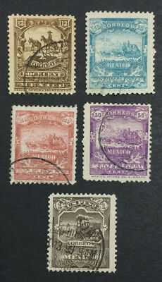 Momen: Mexico #285-289 Used $161 Lot #6538