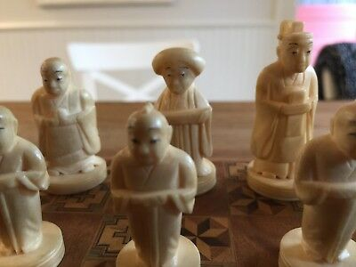 Unique Old Chess set-Oriental carved figures-complete