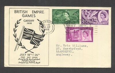 GREAT BRITAIN , 1958 , BRITISH EMPIRE GAMES illustrated FDC