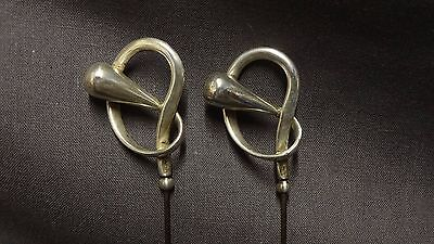 Pair Of Antique Hallmarked Sterling Silver Art Nouveau Hat Pins