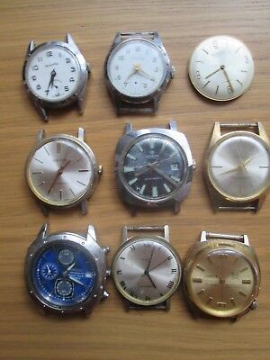 Assortment of Gents Wrist Watches, not Working, for Spares or Repairs,