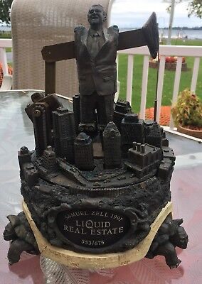 Vintage Samuel Zell 1997 Liquid Real Estate 553/675 Music Box Animatronic Works!
