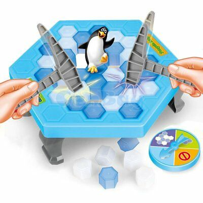 Fun Game Toy Hammer Save the Penguin on Ice Family Game Break Ice Block Trap Set