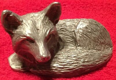 Pewter Laying Fox