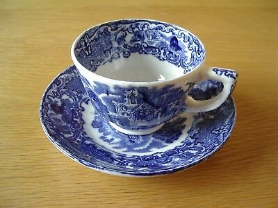 "Antique George Jones ""Abbey 1790 Ware"" Cup And Saucer."