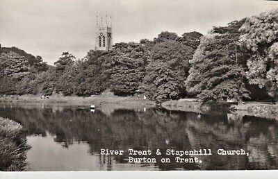 RP Early BURTON ON TRENT - River Trent and Stapenhill Church