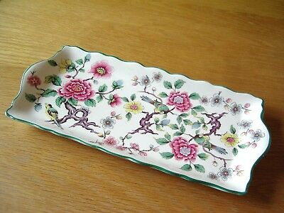 Vintage Old Foley China Rectangular Sandwich Plate –Chinese Rose Pattern.