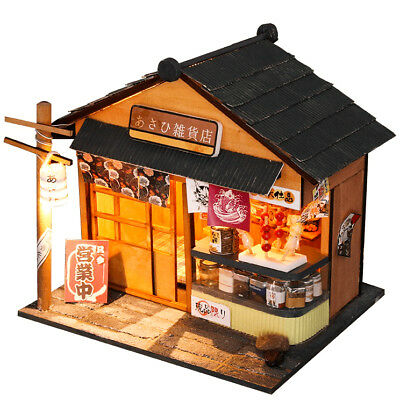DIY Handcraft Miniature Project Wooden Dolls House My Little Zakka Store Kyoto