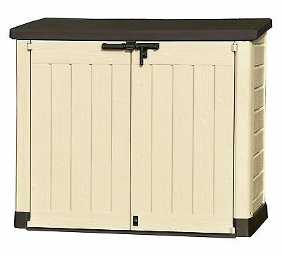 KETER OUTDOOR STORAGE SHED Bike Pent Plastic Store Windowless Log Bicycle S2 NEW